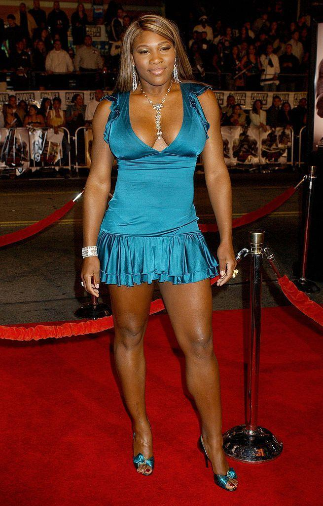 <p>Williams rocked this super tight teal mini with matching pumps for the red carpet. </p>
