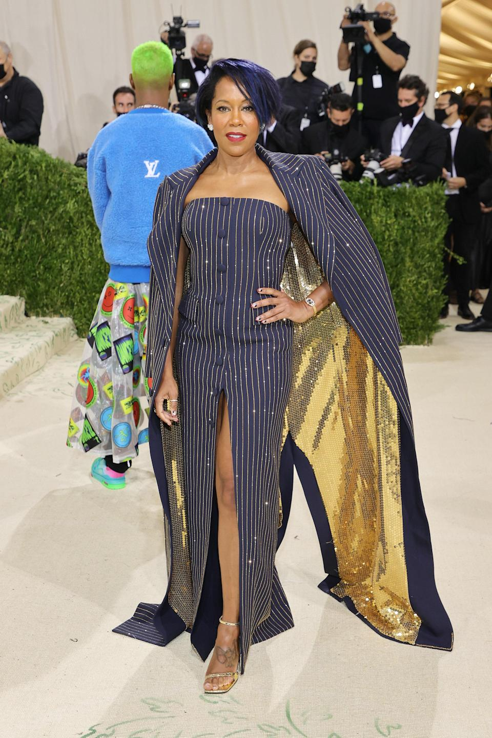 """<h1 class=""""title"""">Regina King, The 2021 Met Gala Celebrating In America: A Lexicon Of Fashion - Arrivals</h1><cite class=""""credit"""">Getty</cite>"""