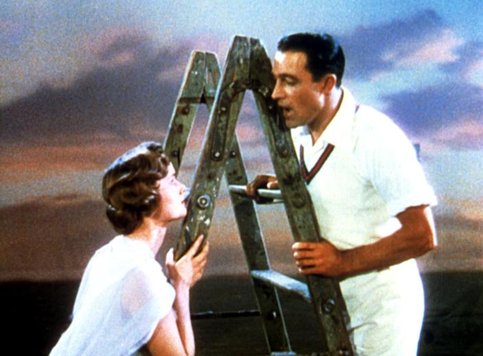 "<p>One of the greatest movie musicals of all time, <strong>Singin' in the Rain</strong> features a sweet love story and a slew of glorious musical numbers. As Hollywood makes the shift to ""talkies,"" silent-film star Don tries to keep up, while also romancing witty starlet Kathy. When their first attempt at a talkie turns out hilariously awful, it's up to Don, Kathy, and their friend Cosmo to figure out a way to save the movie and their careers.</p> <p><a href=""https://www.hbomax.com/feature/urn:hbo:feature:GXjS6HwuDQo-njwEAAAT1"" class=""link rapid-noclick-resp"" rel=""nofollow noopener"" target=""_blank"" data-ylk=""slk:Watch Singin' in the Rain on HBO Max"">Watch <strong>Singin' in the Rain</strong> on HBO Max</a>.</p>"