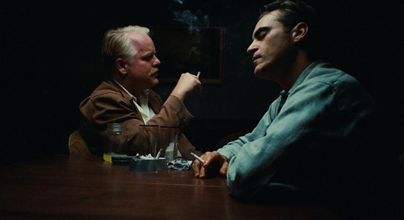 """Philip Seymour Hoffman and Joaquin Phoenix in """"The Master."""" (Photo: """"The Master"""")"""