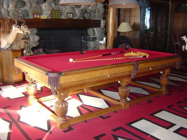 Biggest log cabin in the world is most expensive home in - Most expensive pool table ...
