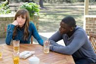 """<p>Written and directed by <a class=""""link rapid-noclick-resp"""" href=""""https://www.popsugar.com/latest/Jordan-Peele"""" rel=""""nofollow noopener"""" target=""""_blank"""" data-ylk=""""slk:Jordan Peele"""">Jordan Peele</a>, <strong>Get Out</strong> revolves around a Black man (Daniel Kaluuya) who joins his white girlfriend (Allison Williams) on a weekend getaway to her parents' house to meet them for the first time. Though Chris is initially confused by the family's overly accommodating behavior, it soon becomes clear that they're hiding a sinister secret. </p> <p><span>Watch <strong>Get Out </strong>on Amazon Prime</span>. </p>"""