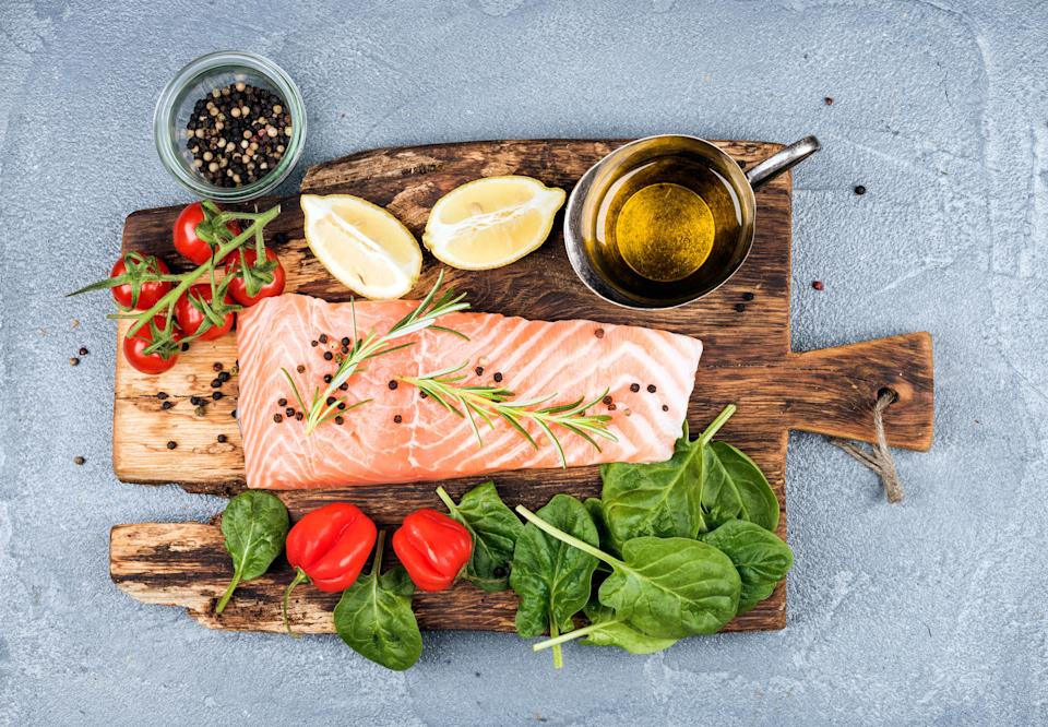 Oily fish can help ease anxiety [Photo: Getty]