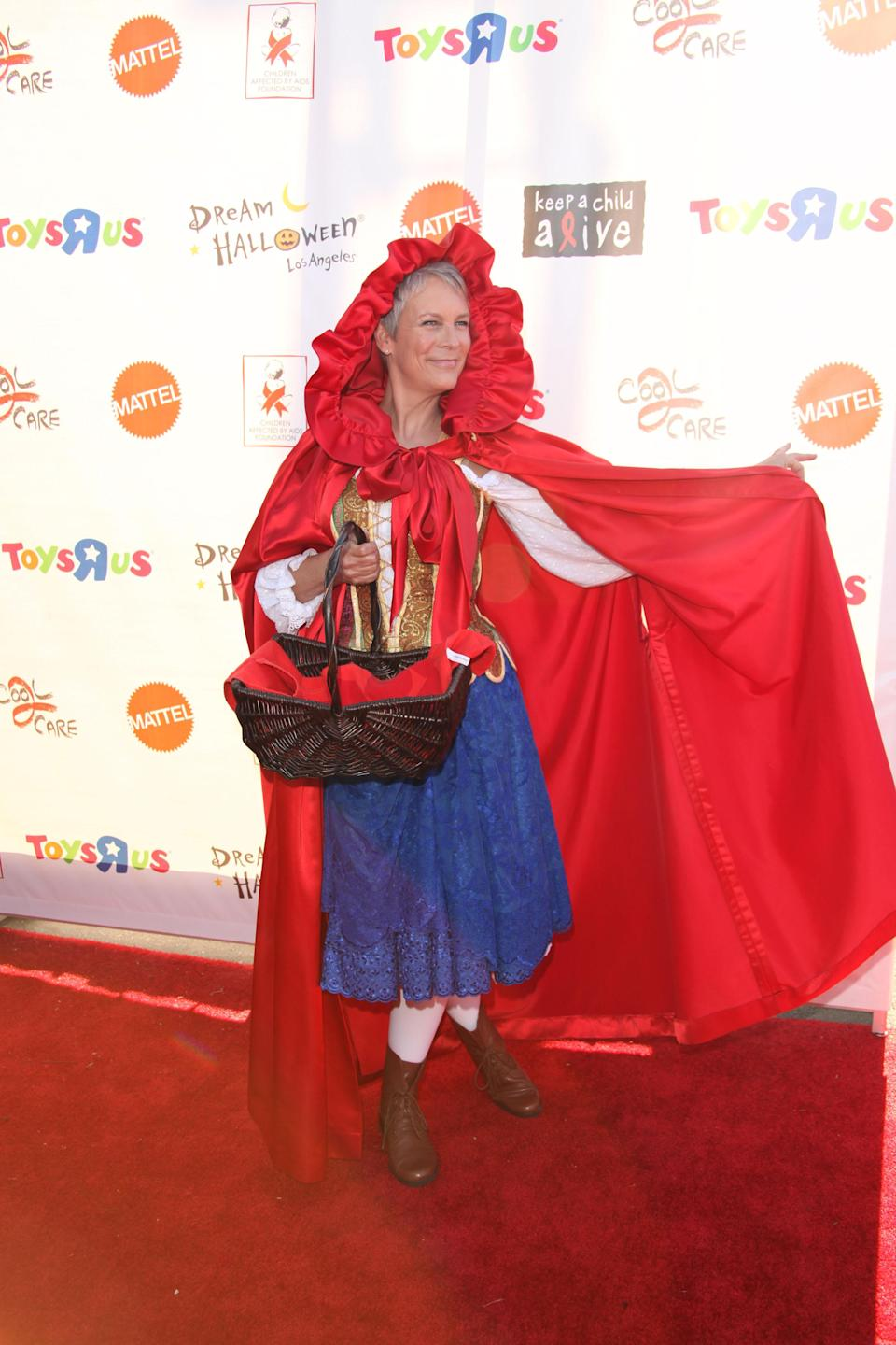 <p>Jamie Lee Curtis attends the 18th annual Dream Halloween Los Angeles at The Barker Hanger on October 29, 2011 in Santa Monica, California. (Splash) </p>