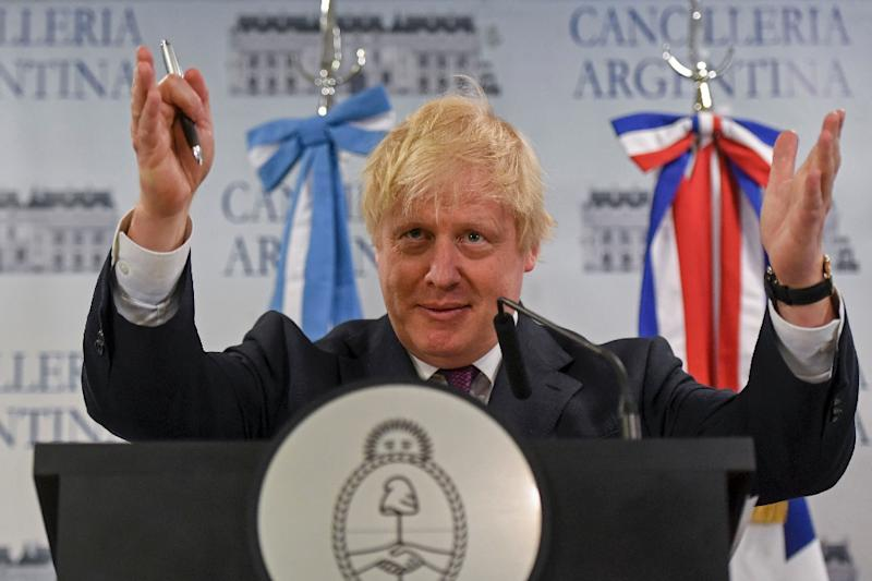 Johnson is the first British foreign secretary to visit Argentina in 25 years (AFP Photo/EITAN ABRAMOVICH)
