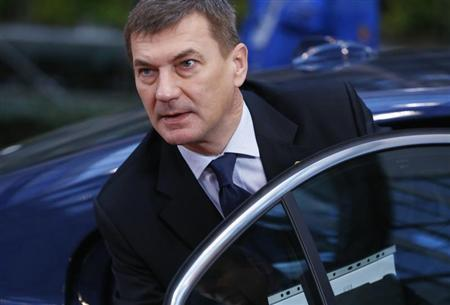 Estonia's PM Ansip arrives at European Union leaders summit at EU council headquarters in Brussels