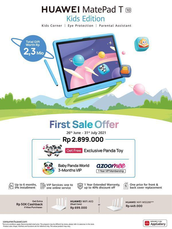First Sale Offer HUAWEI MatePad T10 Kids Edition.
