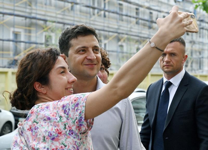 Ukraine's new president Volodymyr Zelensky's first staffing decisions have raised eyebrows, sparking fear that he might be beholden to tycoon Igor Kolomoisky despite repeated denials (AFP Photo/Sergei SUPINSKY)