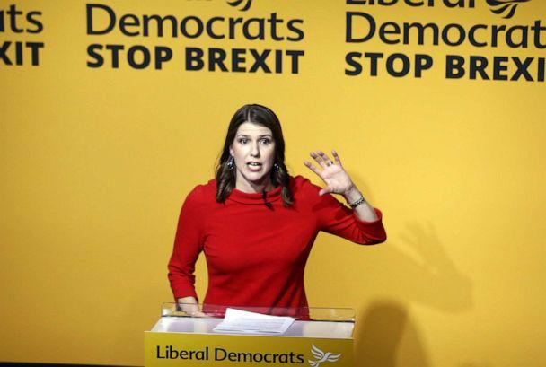 PHOTO: Jo Swinson, leader of the Liberal Democrats, speaks during the party's new leader announcement in London, U.K., on Monday, July 22, 2019. (Simon Dawson/Bloomberg via Getty Images)