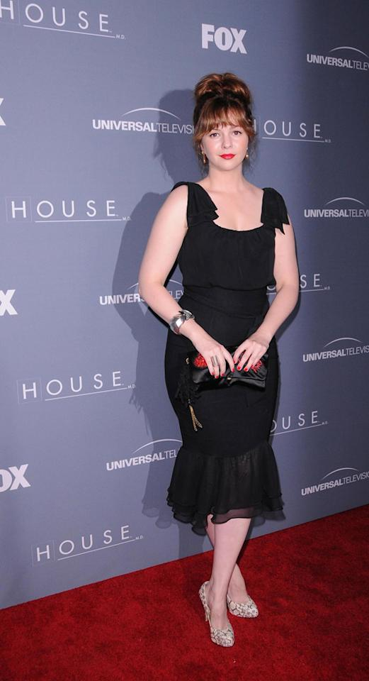 "Amber Tamblyn arrives at the ""<a target=""_blank"" href=""http://tv.yahoo.com/house/show/36106"">House</a>"" Series Finale Wrap Party on Friday, April 20, 2012 at Cicada in downtown Los Angeles, California."