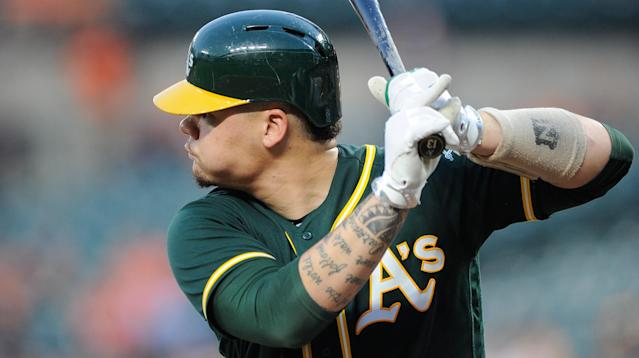 Bruce Maxwell, catcher for the Oakland Athletics, just became the first major league baseball player to take a knee during the national anthem in Saturday's game against the Texas Rangers.