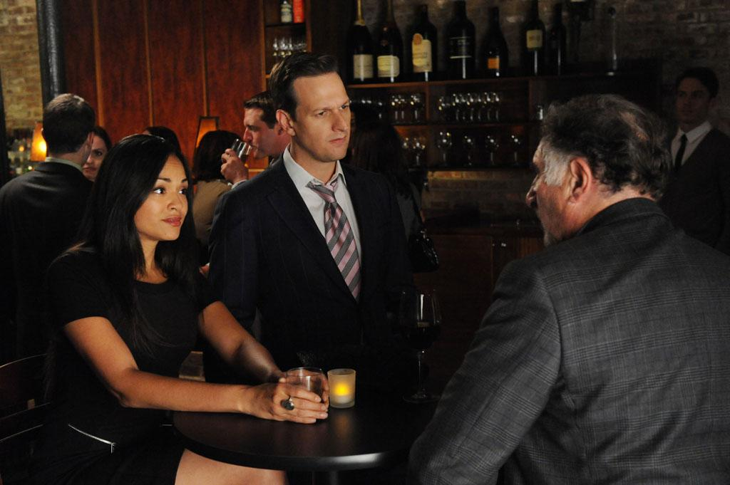 "Will (Josh Charles) runs into Judge Creary (Judd Hirsch) and Giada (Karen Olivo) in ""Here Comes the Judge,"" the eighth episode of ""The Good Wife"" Season 4."