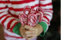 "<p>A merry little spin on an Easter egg hunt, hide a set of wrapped candy canes throughout the house, and leave them for others to collect.</p><p><a class=""link rapid-noclick-resp"" href=""https://www.amazon.com/Brachs-White-Candy-Canes-Peppermint/dp/B0754THVHP/?tag=syn-yahoo-20&ascsubtag=%5Bartid%7C2140.g.35058682%5Bsrc%7Cyahoo-us"" rel=""nofollow noopener"" target=""_blank"" data-ylk=""slk:SHOP CANDY CANES"">SHOP CANDY CANES</a><br></p><p><em><a href=""http://dirtandboogers.com/candy-cane-hunt/#_a5y_p=2782828"" rel=""nofollow noopener"" target=""_blank"" data-ylk=""slk:Get the tutorial at Dirt & Boogers »"" class=""link rapid-noclick-resp"">Get the tutorial at Dirt & Boogers »</a></em><br></p>"