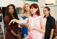 """<p><strong>The 1-Sentence Pitch:</strong> """"<em>Claws</em> is a show about a woman with a dream and a desire, and when pushed to her limit, she will stop at nothing to take care of the people she loves,"""" says star Niecy Nash.<br><br><strong>What to Expect:</strong> Nash plays Desna, the owner of a Florida nail salon who has been laundering money for the Dixie Mafia in the hope of finally affording an upscale location for her staff (Carrie Preston, Jenn Lyon, Judy Reyes, and Karrueche Tran), as well as a nicer home for her autistic brother (<em>Lost'</em>s Harold Perrineau). """"I think if <em>Breaking Bad</em> and <em>The Sopranos</em> had a baby and named it <em>Orange Is the New Black</em>, and then that baby had a baby, it would be <em>Claws</em>,"""" Nash says.<br><br><strong>TV-MA:</strong> Put another way, there's dark humor and violence, sisterhood and sex. """"You have women — and I'm reaching to the sky for these air quotes when I say 'of a certain age' — who are still very viable, sexy, sexual. That part is important. Because you don't die on a vine at a certain age,"""" Nash says. """"So I appreciated the fact that you still got to see these women living full lives. Whether they're in relationships with men or other women, it's full nonetheless."""" —<em>Mandi Bierly</em><br><br>(Photo: TNT) </p>"""