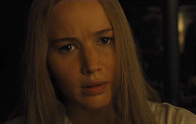 Jennifer Lawrence in a scene from mother! Source: Paramount