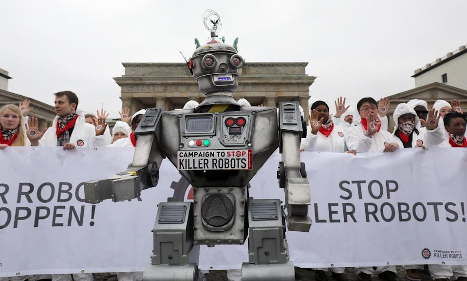 <p>People take part in a demonstration as part of the campaign