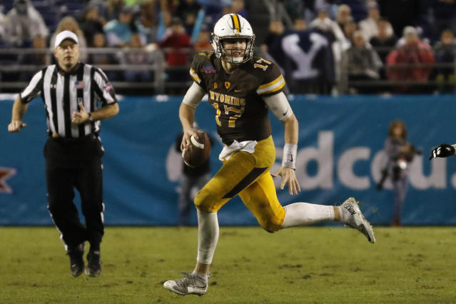 Have you purchased your Josh Allen NFL draft stock yet? (AP Photo/Ryan Kang, File)