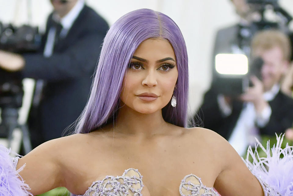 FILE - In this May 6, 2019, file photo, Kylie Jenner attends The Metropolitan Museum of Art's Costume Institute benefit gala in New York. Reality TV star Kylie Jenner is selling a stake of her beauty brand to Coty, the owner of CoverGirl makeup. Coty Inc. will pay $600 million for a 51% stake in Kylie Cosmetics, valuing it at about $1.2 billion. Coty says it plans to launch more products under the Kylie brand and sell them in more countries around the world. (Photo by Charles Sykes/Invision/AP, File)