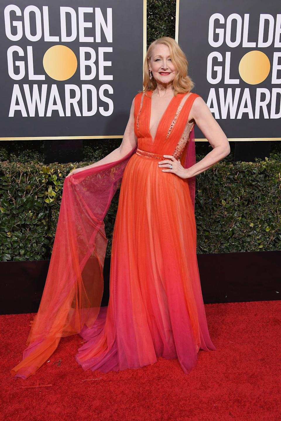<p>Wearing a Georges Chakra Couture dress with jewels by Diamond Foundry and Harry Winston.</p>
