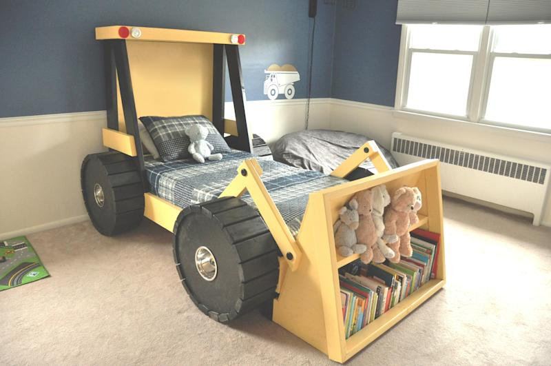 Bulldozer Toddler Bed - Toddler Beds at Hayneedle