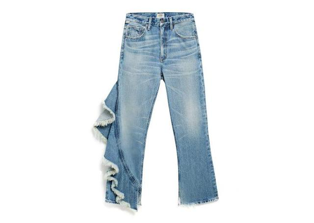 "Citizens of Humanity Estella Side Ruffle Jeans, $328, <a href=""https://www.shopbop.com/estella-side-ruffle-jeans-citizens/vp/v=1/1568939245.htm?currencyCode=USD&extid=SE_froogle_SC_usa&cvosrc=cse.google.CITIZ40755&cvo_campaign=SB_Google_USD&s_kwcid=AL!3510!3!{creative}!{matchtype}!{placement}!{network}!!{keyword}&ef_id=V79JygAAAG1RU8@d:20170605200627:s"" rel=""nofollow noopener"" target=""_blank"" data-ylk=""slk:Shopbop.com"" class=""link rapid-noclick-resp"">Shopbop.com</a>"