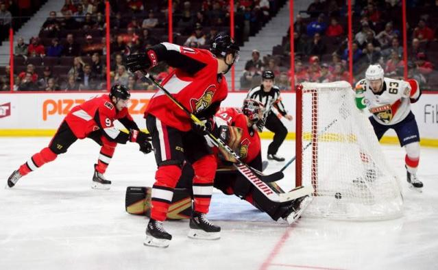 Medical emergencies rattle players as Hoffman leads Panthers past Senators 7-5