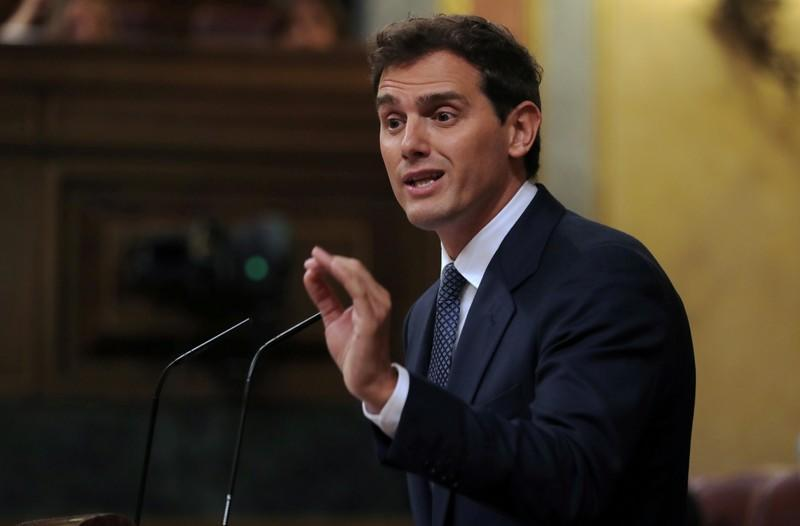 FILE PHOTO: Investiture debate at the Parliament in Madrid