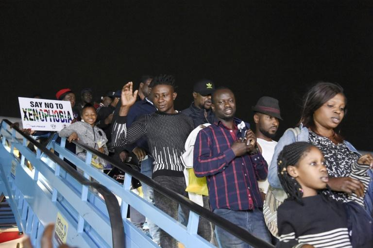 Last week nearly 200 other Nigerians were repatriated aboard a specially chartered plane following the violence that rocked Johannesburg and surrounding areas