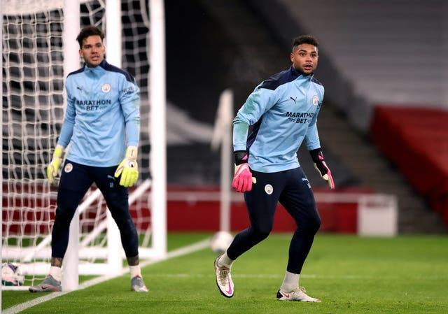 City could be without both Ederson (left) and Zack Steffen (right) this weekend