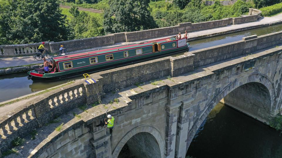 The Dundas Aqueduct is 140 metres long (Steve Parsons/PA) (PA Wire)
