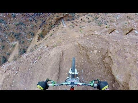 <p>At the 2013 Red Bull Rampage, Kelly McGarry strapped on a GoPro and did a backflip over a 72-foot canyon gap. </p><p><span>See the original post on Youtube</span></p>