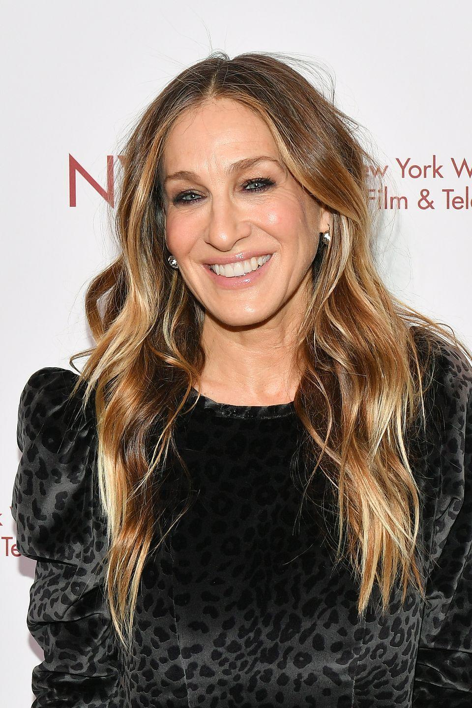 """<p>Despite being a busy working mom, SJP has one of the best bodies around. Her trainer, Marc Santa Maria, says she does this <a href=""""https://people.com/style/celeb-trainers-reveal-how-stars-stay-svelte/"""" rel=""""nofollow noopener"""" target=""""_blank"""" data-ylk=""""slk:push-up circuit"""" class=""""link rapid-noclick-resp"""">push-up circuit</a> on the reg.</p>"""