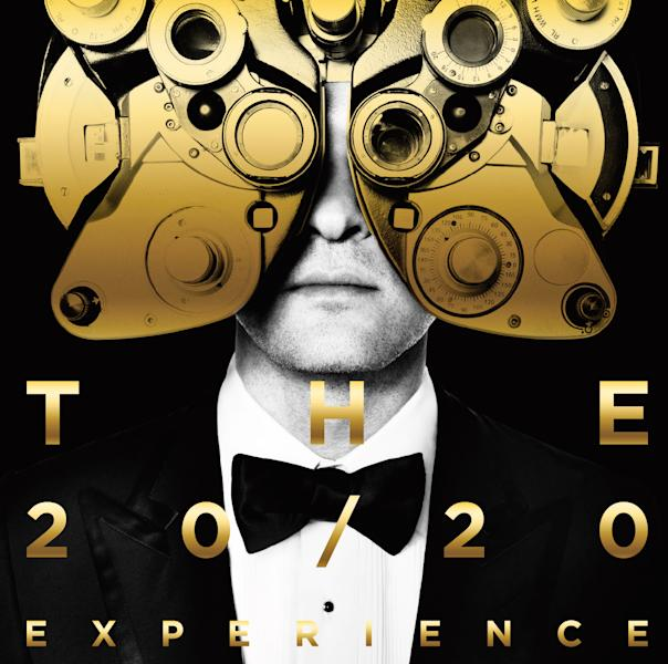 "This CD cover image released by RCA Records shows ""The 20/20 Experience"" by Justin Timberlake. Timberlake's comeback album, ""The 20/20 Experience,"" is 2013's best-selling album on the U.S. iTunes Store. (AP Photo/RCA)"