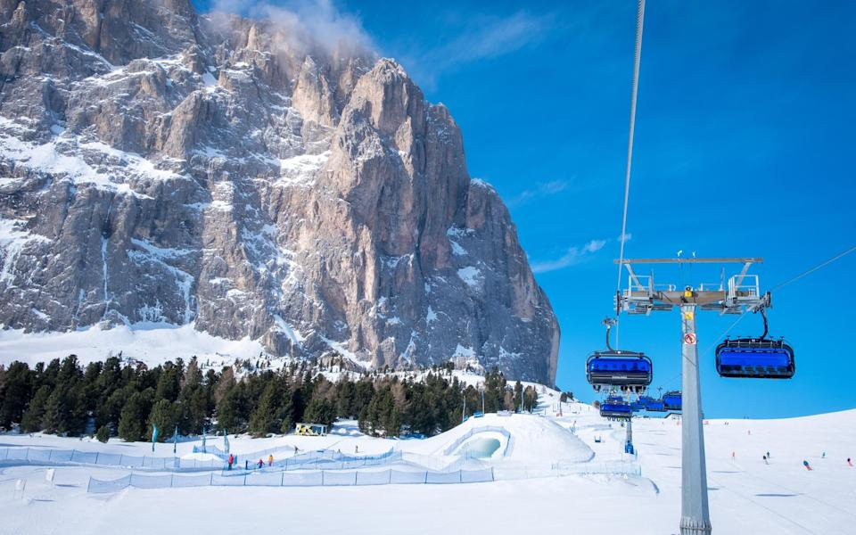 Ski resorts in Europe could remain empty throughout the lucrative Christmas period - Getty