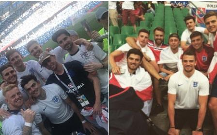 "Harry Maguire celebrated England's 6-1 victory over Panama by reuniting with the friends he stood alongside as an England fan at the European Championships in France two years ago. Maguire recreated the now well-known photograph of him and his mates in Saint Etienne before a group match against Slovakia. The Sheffield-born defender first tweeted the picture when he was named in Gareth Southgate's World Cup squad - a sharp reminder of his progress since 2016. Speaking before the World Cup, Maguire said: ""My friends were out there, they actually went out there for a couple of games. I had a few days spare in the summer so I thought there's nothing better than to go out there, see the atmosphere, it was a great few days. See the passion of the fans. It was a great experience and one I'd definitely do again. ""It went pretty smoothly to be honest. Thankfully, the person who organised it was pretty good. We went to Paris for a couple of nights and we stayed where the game was (Saint Etienne) a couple of nights, it wasn't anything plush and posh. It was what the England fans do. 2 years on... have a good trip lads �������������������� pic.twitter.com/b0PzlsXiJY— Harry Maguire (@HarryMaguire93) 24 June 2018 ""I can't remember my rooms. I know the lads did it really cheap, I just jumped on it at the end. I just jumped in their hotels. It definitely wasn't an expensive trip. ""There were a few who recognised me. Mainly Hull fans or Sheffield United fans. Not really too many to put me off going, though. It was nice to interact and be part of it and mingle in with the fans without getting too much recognition. ""I really was over there acting like a fan. Chanting away and enjoying myself with my mates. It was a great time. A great experience. Probably I'll be doing again in the future. I'm sure I'll be over there one time with my mates whether it's in a near future or further away."" Maguire has started both of England's group-stage victories over Tunisia and Panama, assisting Harry Kane's last-gasp winner against Tunisia with a crucial knock-down. England vs Panama player ratings The 25-year-old's quality on the ball was an asset in both matches, driving forward with the ball from the left of a back three to create an extra man in possession. Maguire was subject to some agricultural Panama defending at England corners, though he proved a distraction when they allowed John Stones to ghost in and score the opening goal. The centre back joined Leicester City from Hull last summer in a £17 million move, and was named in the England squad ahead of the likes of Chris Smalling."