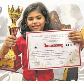City's Myrah Suchdev wears chess crown