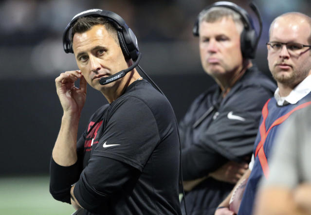"Falcons offensive coordinator Steve Sarkisian says it would be ""so fulfilling"" to help another individual struggling with alcoholism. (AP)"