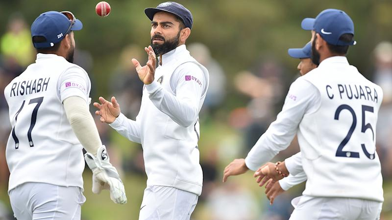 Virat Kohli and India, pictured here in the field on day three of the second Test against New Zealand.