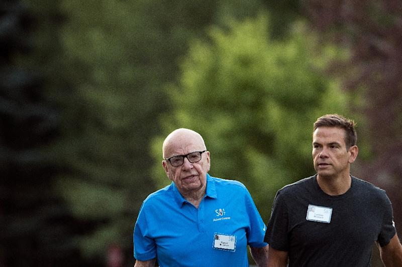 "Lachlan Murdoch (R) would be chairman at CEO at the ""new"" Fox after a major asset sale is completed, with his father Rupert (L) holding the title of co-chairman"