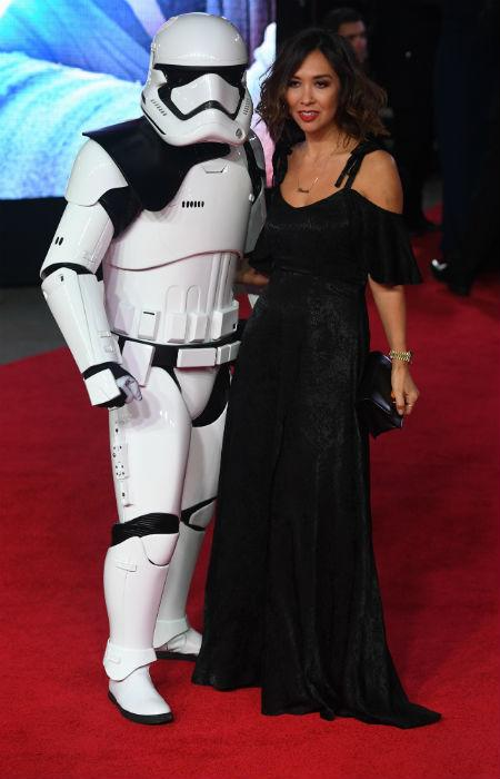 Myleene Klass at the Star Wars premiere