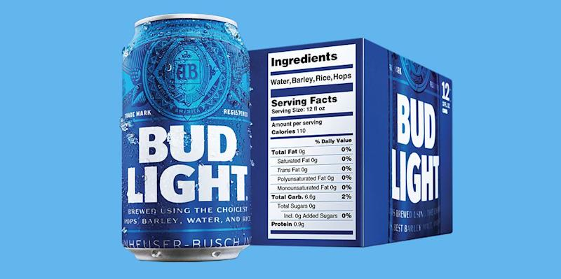 Bud Light Is the First Big Beer to Have Massive Nutrition Labels 579c5ce899c0