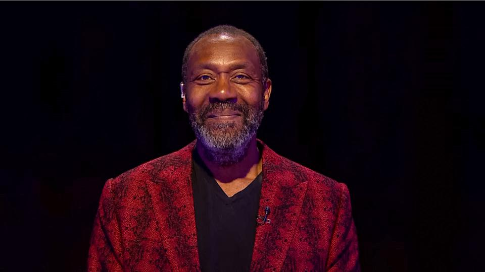 Lenny Henry takes part in the BBC Children In Need and Comic Relief 'Big Night In' at London on April 23, 2020. (Photo by Comic Relief/BBC Children in Need/Comic Relief via Getty Images)