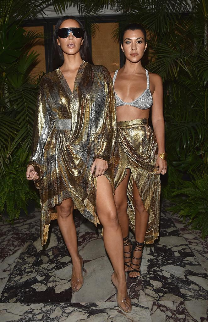 The Kardashian sisters always look flawless. (Photo: Jacopo Raule/Getty Images)