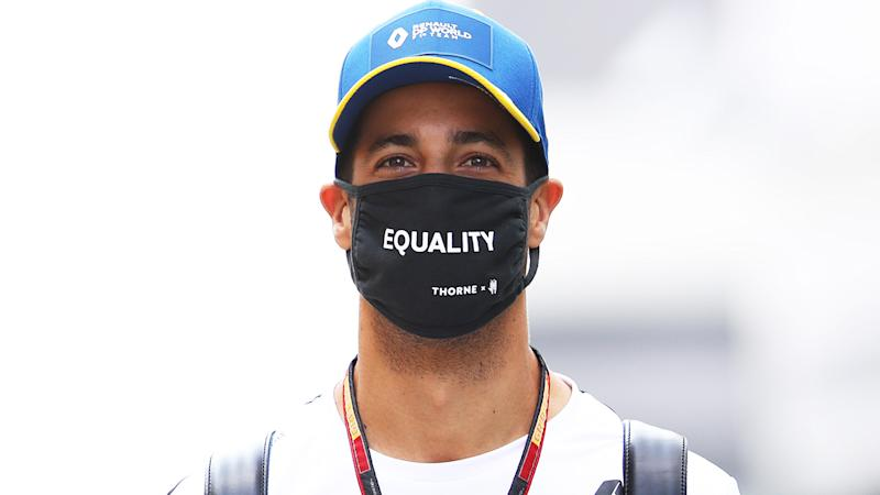 Aussie Formula One driver Daniel Ricciardo is pictured at the Formula One Russian Grand Prix.