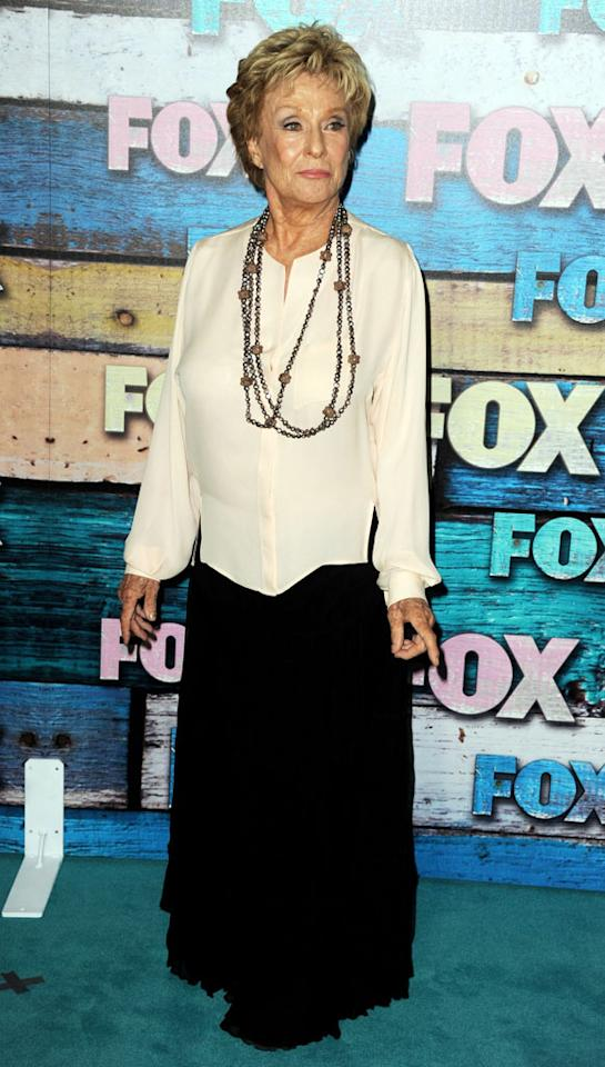 """Cloris Leachman (""""Raising Hope"""") arrives at the Fox Summer 2012 All-Star Party on July 23, 2012 at the Soho House in West Hollywood, California."""