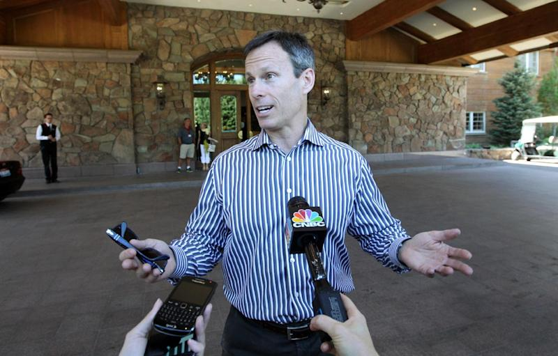 Thomas Staggs, Chairman of Walt Disney Parks and Resorts, at the Allen & Company Sun Valley Conference in Sun Valley, Idaho, Tuesday, July 9, 2012. (AP Photo/Rick Bowmer)