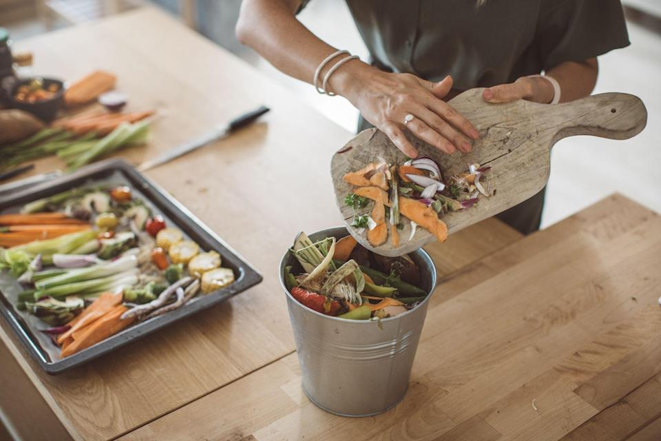 "<p>Food waste is a huge problem that we probably all contribute to in some way. From tossing out the rotten fruit you shoved in the back of the fridge and forgot about to throwing away half-full plates of uneaten food, you likely waste a decent amount of food every week, if not every day. </p><p>And you're not alone: the United States has more food waste than any other country, with research showing that Americans get rid of almost <a href=""https://www.rts.com/resources/guides/food-waste-america/"" rel=""nofollow noopener"" target=""_blank"" data-ylk=""slk:40 million tons of food"" class=""link rapid-noclick-resp"">40 million tons of food</a> every year - we don't need to explain how much that is. Food takes up more space in US landfills than anything else, and it's putting a serious strain on our planet. Wasting food means wasting the water and energy that was used to produce it, and generates 7% of the world's emissions of greenhouse gases. All that food in landfills produces nitrogen pollution as well. And, of course, there are the personal repercussions: when you waste food, you're also wasting your own money.</p><p> The good news is that we can stop food waste with a few changes to our daily habits and kitchen routines. If everyone made an effort to reduce food waste, it could make a huge impact on climate change. Here's how to start reducing food waste in your own kitchen.</p>"