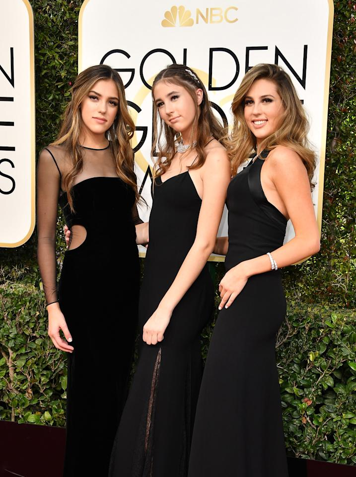 Days before, Sistine and her sisters Scarlet and Sophia made an appearance at the 2017 Golden Globes as the ceremony's first trio of Miss Golden Globes. (Photo: Getty)