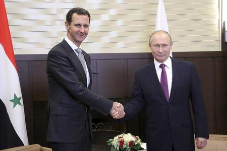 Russian President Putin meets with Syrian President al-Assad in Sochi