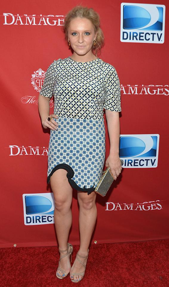 "Annie Maude Starke attends The DirecTV premiere for the fifth and final season of ""Damages"" at Paris Theater on June 28, 2012 in New York City."